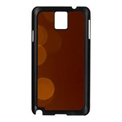 Yellow And Orange Blurred Lights Orange Gerberas Yellow Bokeh Background Samsung Galaxy Note 3 N9005 Case (black)