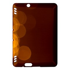 Yellow And Orange Blurred Lights Orange Gerberas Yellow Bokeh Background Kindle Fire Hdx Hardshell Case