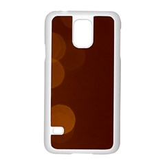 Yellow And Orange Blurred Lights Orange Gerberas Yellow Bokeh Background Samsung Galaxy S5 Case (white)