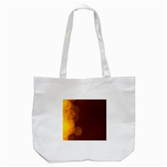 Yellow And Orange Blurred Lights Orange Gerberas Yellow Bokeh Background Tote Bag (white)