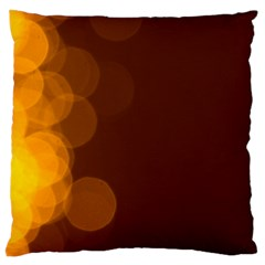 Yellow And Orange Blurred Lights Orange Gerberas Yellow Bokeh Background Standard Flano Cushion Case (two Sides)