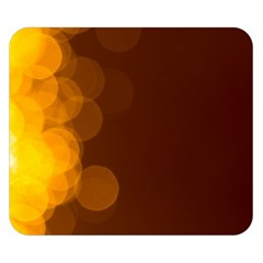 Yellow And Orange Blurred Lights Orange Gerberas Yellow Bokeh Background Double Sided Flano Blanket (small)
