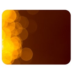 Yellow And Orange Blurred Lights Orange Gerberas Yellow Bokeh Background Double Sided Flano Blanket (medium)