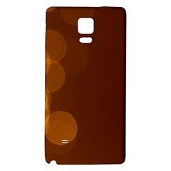 Yellow And Orange Blurred Lights Orange Gerberas Yellow Bokeh Background Galaxy Note 4 Back Case