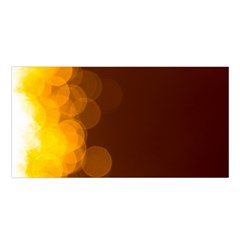 Yellow And Orange Blurred Lights Orange Gerberas Yellow Bokeh Background Satin Shawl