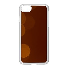Yellow And Orange Blurred Lights Orange Gerberas Yellow Bokeh Background Apple Iphone 7 Seamless Case (white)