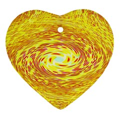 Yellow Seamless Psychedelic Pattern Ornament (Heart)