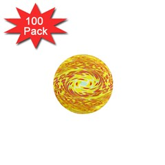 Yellow Seamless Psychedelic Pattern 1  Mini Magnets (100 Pack)