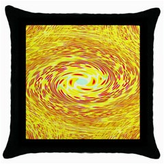 Yellow Seamless Psychedelic Pattern Throw Pillow Case (black)
