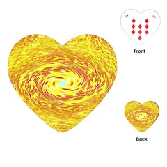 Yellow Seamless Psychedelic Pattern Playing Cards (heart)