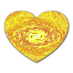 Yellow Seamless Psychedelic Pattern Heart Mousepads