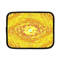 Yellow Seamless Psychedelic Pattern Netbook Case (small)