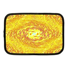 Yellow Seamless Psychedelic Pattern Netbook Case (medium)