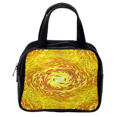 Yellow Seamless Psychedelic Pattern Classic Handbags (one Side)