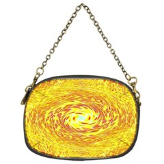 Yellow Seamless Psychedelic Pattern Chain Purses (one Side)