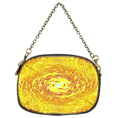 Yellow Seamless Psychedelic Pattern Chain Purses (two Sides)