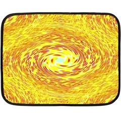 Yellow Seamless Psychedelic Pattern Double Sided Fleece Blanket (mini)