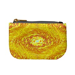 Yellow Seamless Psychedelic Pattern Mini Coin Purses