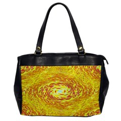 Yellow Seamless Psychedelic Pattern Office Handbags