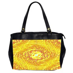 Yellow Seamless Psychedelic Pattern Office Handbags (2 Sides)