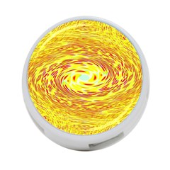 Yellow Seamless Psychedelic Pattern 4 Port Usb Hub (one Side)