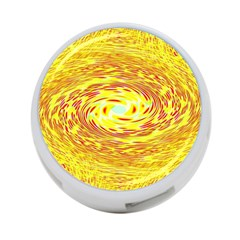 Yellow Seamless Psychedelic Pattern 4 Port Usb Hub (two Sides)