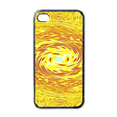 Yellow Seamless Psychedelic Pattern Apple Iphone 4 Case (black)