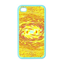 Yellow Seamless Psychedelic Pattern Apple Iphone 4 Case (color)