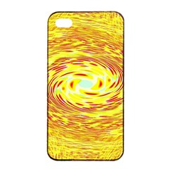 Yellow Seamless Psychedelic Pattern Apple Iphone 4/4s Seamless Case (black)