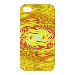 Yellow Seamless Psychedelic Pattern Apple Iphone 4/4s Premium Hardshell Case