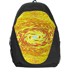 Yellow Seamless Psychedelic Pattern Backpack Bag