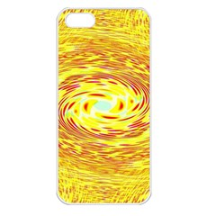 Yellow Seamless Psychedelic Pattern Apple Iphone 5 Seamless Case (white)