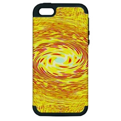 Yellow Seamless Psychedelic Pattern Apple Iphone 5 Hardshell Case (pc+silicone)