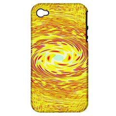 Yellow Seamless Psychedelic Pattern Apple Iphone 4/4s Hardshell Case (pc+silicone)
