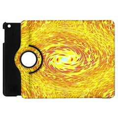 Yellow Seamless Psychedelic Pattern Apple Ipad Mini Flip 360 Case