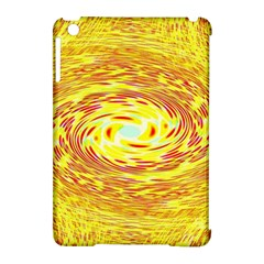 Yellow Seamless Psychedelic Pattern Apple Ipad Mini Hardshell Case (compatible With Smart Cover)