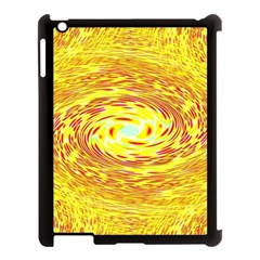 Yellow Seamless Psychedelic Pattern Apple Ipad 3/4 Case (black)