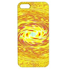 Yellow Seamless Psychedelic Pattern Apple Iphone 5 Hardshell Case With Stand