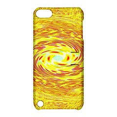 Yellow Seamless Psychedelic Pattern Apple Ipod Touch 5 Hardshell Case With Stand