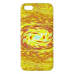 Yellow Seamless Psychedelic Pattern Apple Iphone 5 Premium Hardshell Case