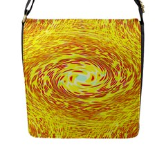 Yellow Seamless Psychedelic Pattern Flap Messenger Bag (l)
