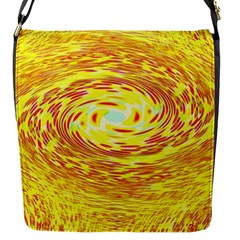 Yellow Seamless Psychedelic Pattern Flap Messenger Bag (s)