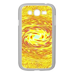 Yellow Seamless Psychedelic Pattern Samsung Galaxy Grand Duos I9082 Case (white)