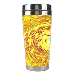 Yellow Seamless Psychedelic Pattern Stainless Steel Travel Tumblers
