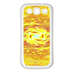 Yellow Seamless Psychedelic Pattern Samsung Galaxy S3 Back Case (white)