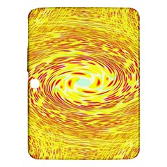 Yellow Seamless Psychedelic Pattern Samsung Galaxy Tab 3 (10 1 ) P5200 Hardshell Case