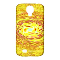 Yellow Seamless Psychedelic Pattern Samsung Galaxy S4 Classic Hardshell Case (pc+silicone)