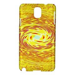 Yellow Seamless Psychedelic Pattern Samsung Galaxy Note 3 N9005 Hardshell Case