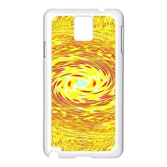 Yellow Seamless Psychedelic Pattern Samsung Galaxy Note 3 N9005 Case (white)