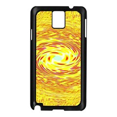 Yellow Seamless Psychedelic Pattern Samsung Galaxy Note 3 N9005 Case (black)